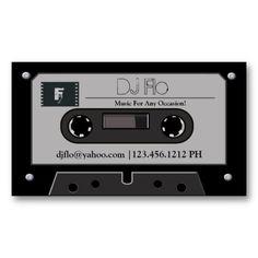 Dj business card dj business cards dj and business cards retro cassette tape dj business cards cheaphphosting Choice Image