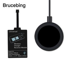Universal Wireless Charger Kit For Phone Adapter Receptor Pad Coil Receiver New #UnbrandedGeneric