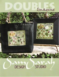 Bags with cross stitch motifs