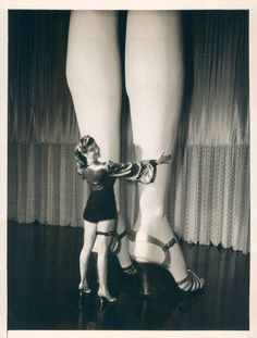 pair of legs, 1940s shoes show girl burlesque pin up found photo