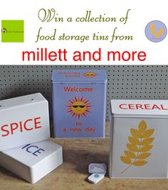 Win a collection of food storage tins from millet and more via @hisforhome #win #competition #giveaway