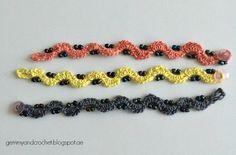 ALL ABOUT CROCHET: Free Pattern: Beaded Crochet Chain Bracelet..Very,very pretty! Would look nice worn in multiples!!