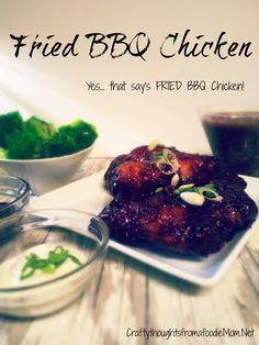 Yes, you are reading this correctly. This is a recipe for FRIED BBQ CHICKEN! I had thawed out a package of chicken breasts the night before to make something with it for dinner the next day. It was…