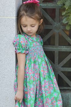 Adorable smocked dress by Little English