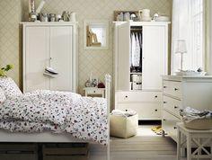 Ikea Bedroom Trends – Brusali Ikea Bed and Bed Linen, Scandinavian White #Ikea #Bedroom