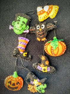 Check out this item in my Etsy shop https://www.etsy.com/listing/482613373/halloween-felt-and-sequined-ornaments