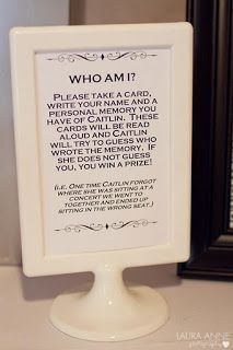 """""""Who am I?"""" Game...could be fun. Might be better with smaller group at bachelorette weekend!."""