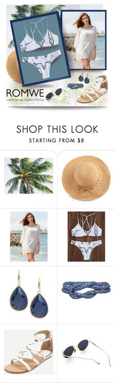"""""""romwe.com/Animal-Print-Strappy-Back-Bikini-Set"""" by debi820 ❤ liked on Polyvore featuring Trina Turk and Carrie K."""