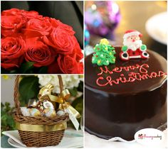 Christmas isn't a season. it's a feeling. Just 6 days left. http://www.flowerzncakez.com/ #christmas #cakes #flowers #chocolates #6daystogo