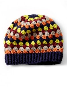 Granny Stripes Hat - Patterns   Yarnspirations