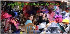 Buried in Kentucky Derby Hats here at www.ChurchDerbyHats.com Vinzetta Millinery 1-855-hat-lady