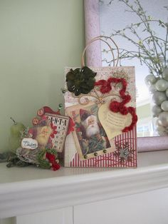Father Christmas Gift Bag  Christmas Gift Set by AvantCarde