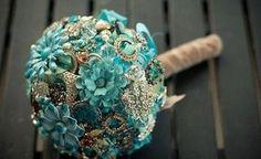 #Buquê #Broches #Blue #Tiffany encontre, encomende na empresa Arte em Flor