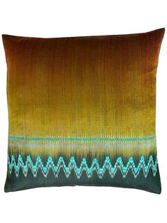 Pillow Thai Silk Ikat Gold Red Black by IMPERIO Vida