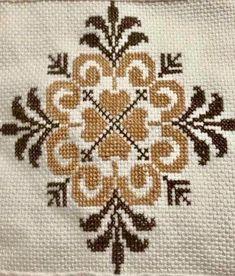 Cross Stitch Letters, Cross Stitch Tree, Cross Stitch Borders, Cross Stitch Charts, Cross Stitch Designs, Cross Stitching, Stitch Patterns, Hand Embroidery Videos, Folk Embroidery