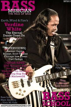 Verdine White from Earth Wind and Fire