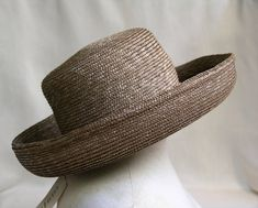 006cf269 Eric Javits Woven Sun Hat / 1990's NEW w/Tag / New York Designer / Woven Hat  with Wide 4