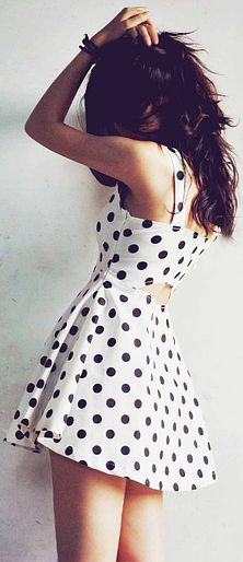 White Polka Dots Dress. make this outfit best for you :) click the photo