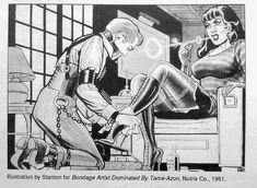 "pittprickel: "" Eric Stanton bdsm artwork fantastic scene of: femdom smoking Mistress boot cleaning slave mouth gagged Bondage "" https://msscarletuk.wordpress.com/"