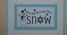 Moje veselje: Let it snow