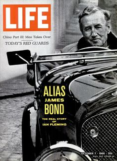 Life Magazine October 1966 cover with Ian Fleming Norman Rockwell, Life Magazine, History Magazine, Bond Cars, Life Cover, Vintage Magazines, Vintage Photos, James Bond, Paris