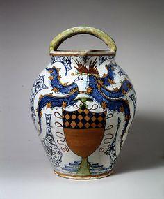 Jug  Date: early 16th century Culture: Italian (Caffaggiolo) (?) Medium: Maiolica (tin-enameled earthenware)