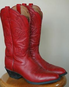 red vintage cowboy boots