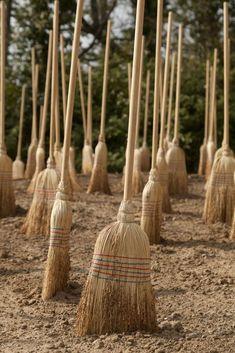 THE WITCH'S PARKING LOT'….Michel BLAZY  GRATIS PARKING voor heksenbezems, maar opgepast voor de bomen!
