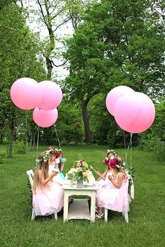 Girls garden tea party by Cacao Sweets