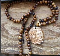 Owl Priestess, owl prayer bead, owl mala, owl rosary, priestess prayer beads…
