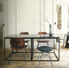 Frederic Mechiche, dining room, eclectic vintage style, black