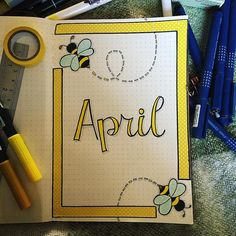Hmmm unsure about this. I only had one design of yellow washi and I'm not loving it. Need a lettering challenge this month to help me improve too. Bullet Journal Titles, March Bullet Journal, Bullet Journal Banner, Bullet Journal Notebook, Bullet Journal Aesthetic, Bullet Journal School, Bullet Journal Inspiration, Creations, Instagram