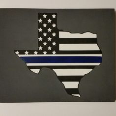 New thin blue line Texas wood sign.
