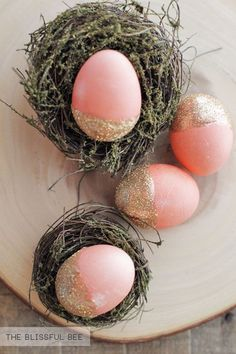 Stunning, elegant Easter eggs by The Blissful Bee!