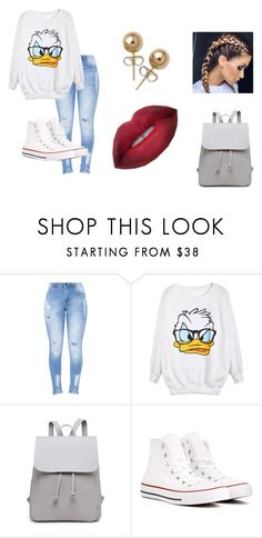 """""""Donald Duck"""" by theskyisthe-limit ❤ liked on Polyvore featuring Converse and Bling Jewelry"""