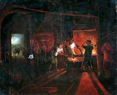 Forging the Anchor - Joseph Wright of Derby (imitator of) Art Gallery Thomas Gainsborough, William Hogarth, Dante Gabriel Rossetti, William Turner, Joseph, Derby, John Everett Millais, York Museum, Anchor Art