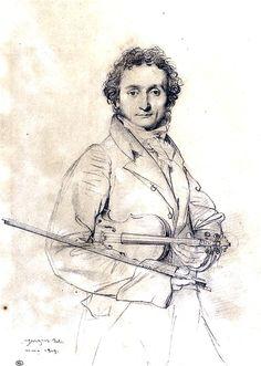 Jean-Auguste-Dominique Ingres (1780-1867), The Violinist Niccolo Paganini, 1819