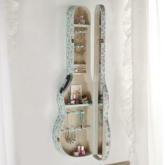 **unlimited pinning*** @diannedarby Guitar case jewelery cabinet