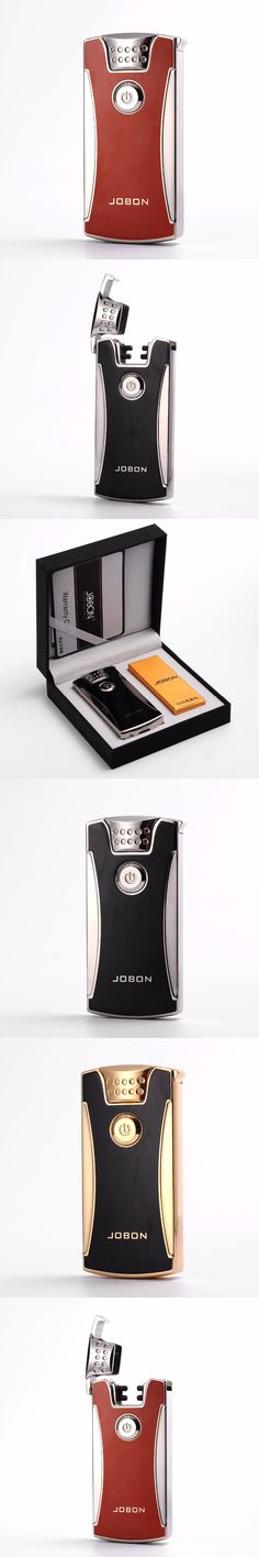 Cigarettes Electric Usb Charging Lighters Arc Plasma Windproof Eletronic Pulse Lighter Cigar With Gift Box