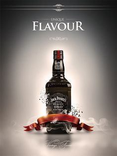 Jack Daniel's kind of poster by Karol Socha, via Behance