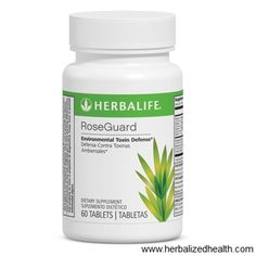 "Herbalife Immune Solution; Rose Guard: An exclusive blend of herbs (rosemary, turmeric and astragalus"") and vitamins to support healthy liver and immune function.*  The body is exposed daily to pollution and other environmental toxins. RoseGuard supports the body's natural defense against environmental toxins, while providing antioxidant support throughout the day.*  Herbalife Online Shop & Info www.gailsonlinehealth.com"