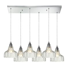 Danica 6 Light Pendant In Polished Chrome And Clear Glass 46018/6RC