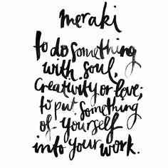 meraki meaning | @thikigreece instagram