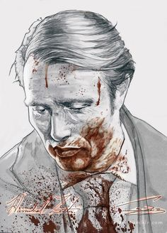fetalnightmare:  I DREW A HANNIBAL FOR MY FANNIBALS