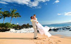 hawaii beach wedding sunset locations   Makena Cove - Maui