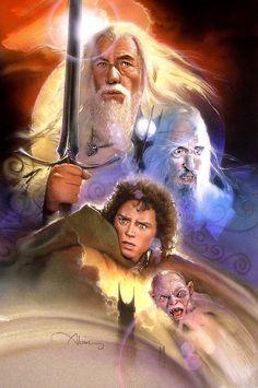 "geekynerfherder: "" 'The Lord Of The Rings' by John Alvin "" Tolkien Hobbit, O Hobbit, Lotr, Gandalf, Legolas, Martin Freeman Hobbit, Literary Heroes, Fili And Kili, The Hobbit Movies"
