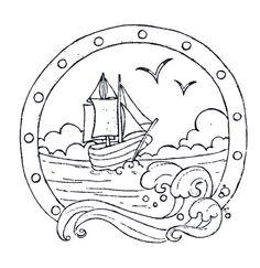 hublot avec sur bateau naviguant - été
