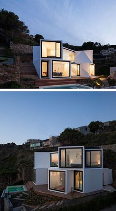 Cadaval & Solà-Morales have designed a home that overlooks the Meditteranean Sea in Girona, Spain.
