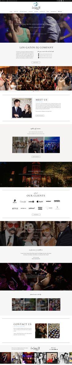 Showit DJ website by Rachael Earl Design Dj Website, Creative Business, Logo Design