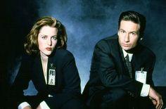 """Gillian Anderson und David Duchovny bei """"Akte X"""""""